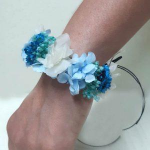 Pulsera de Hortensia Azul