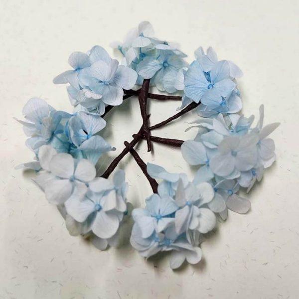 Hortensia Azul Para el Pelo